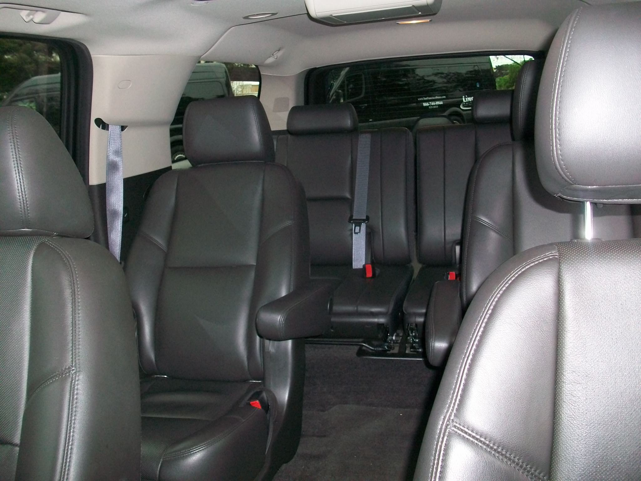Inner View of Cadillac Escalade Luxury SUV