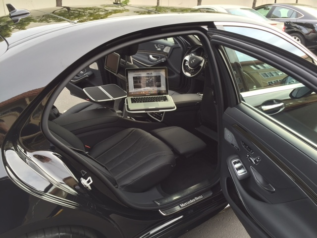 Ultimate Luxury Sedan Mercedes S550 Inner View