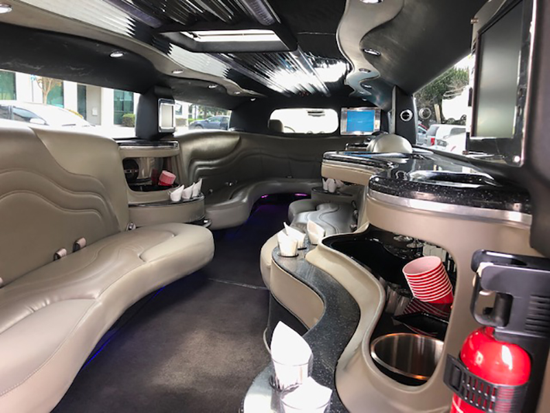 Interior View of Super Spacious SUV Hummer