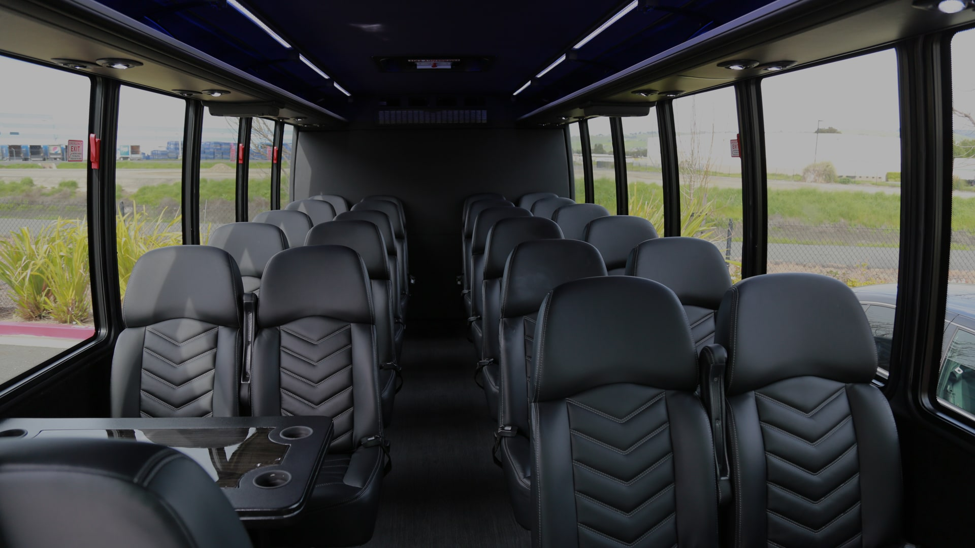 Inner view of the Spacious Limousine Bus